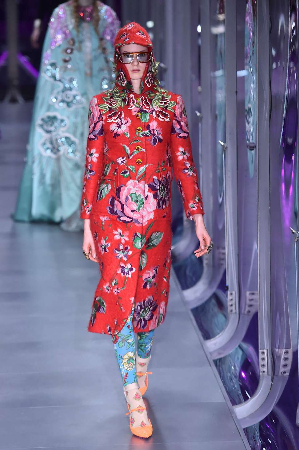 8c0034626e6 Gucci s Alessandro Michele combines women s and menswear in a riot of flora  and fauna