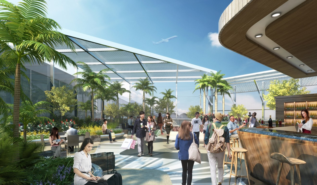 An Illustration Of The Roof Garden At The Airport. Photo: Handout
