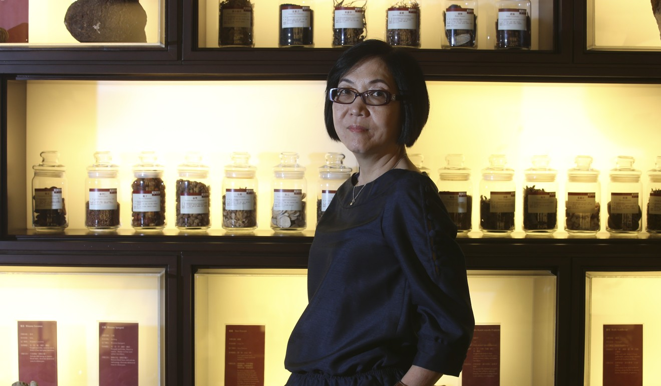 Eu Yan Sang chairman Alice Wong Suet-ying says she wants people to think of Hong Kong when they think of traditional Chinese medicine. Photo: David Wong