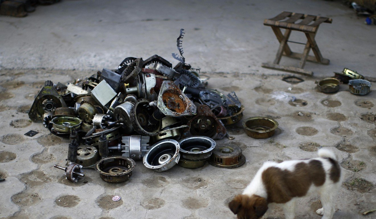 Welcome To Hong Kong The Worlds Dumping Ground For Electronic More Printed Circuit Boards We Buy Pictures Or Back General E A Puppy Stands Next Dismantled Goods At Recycling Yard In Dongxiaokou Village Beijing Photo Reuters