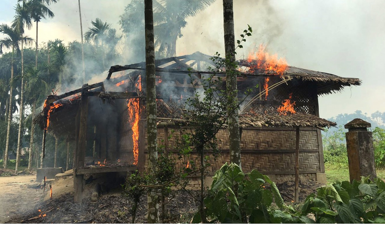security forces and allied mobs have burned down thousands of homes in northern rakhine state myanmar where most of the 1 million rohingya live