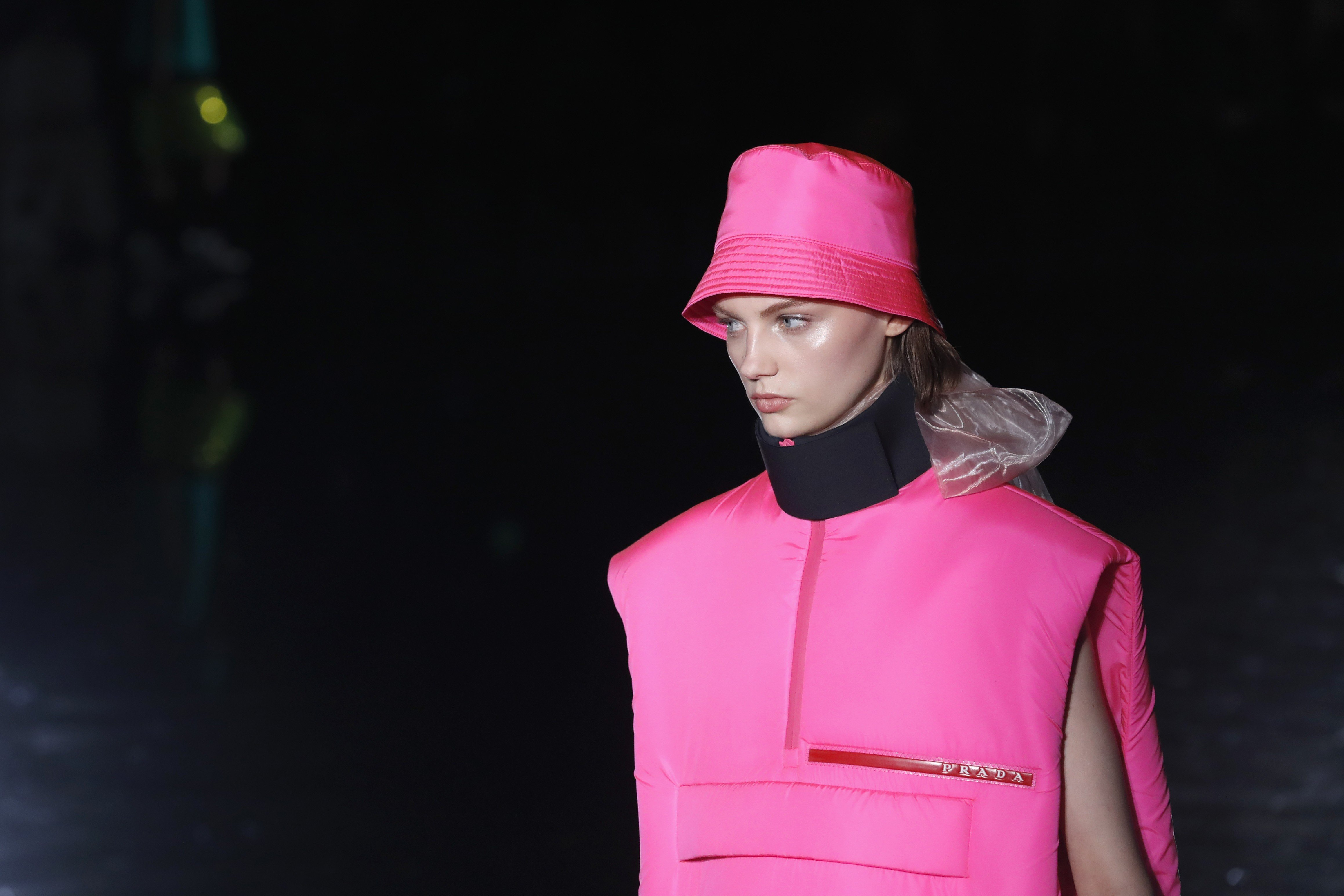 b1ae4d322f9bad Milan Fashion Week: Prada collection's colourful bold lines delight fans    South China Morning Post