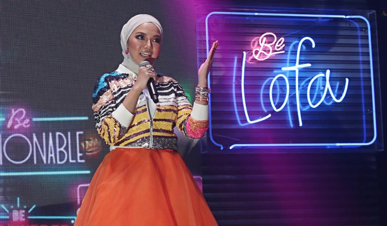 Malaysian actress and entrepreneur Neelofa, 29, recently made headlines for launching her latest hijab line in a popular Kuala Lumpur nightclub. Photo: Mohd Yusni Ariffin
