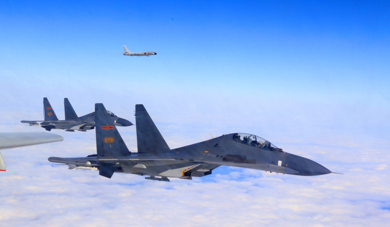 Taiwan scrambles jets as mainland China's air force holds drill near island