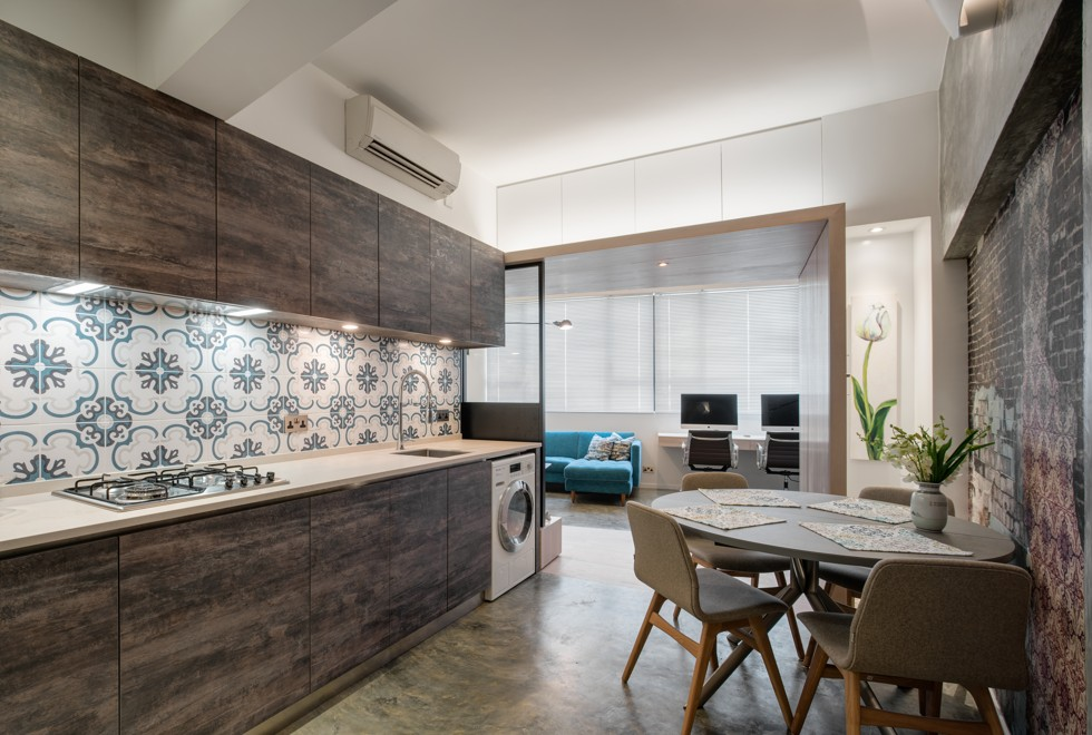 microwave in kitchen cabinet a small hong kong apartment that is big on style post 23312