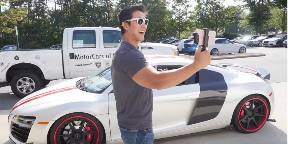 Peter Saddington, Pictured Beside An Audi R8, Who Bought A Lamborghini With  The Riches He Made In Bitcoin. Photo: YouTube/BiteSizeBitcoin