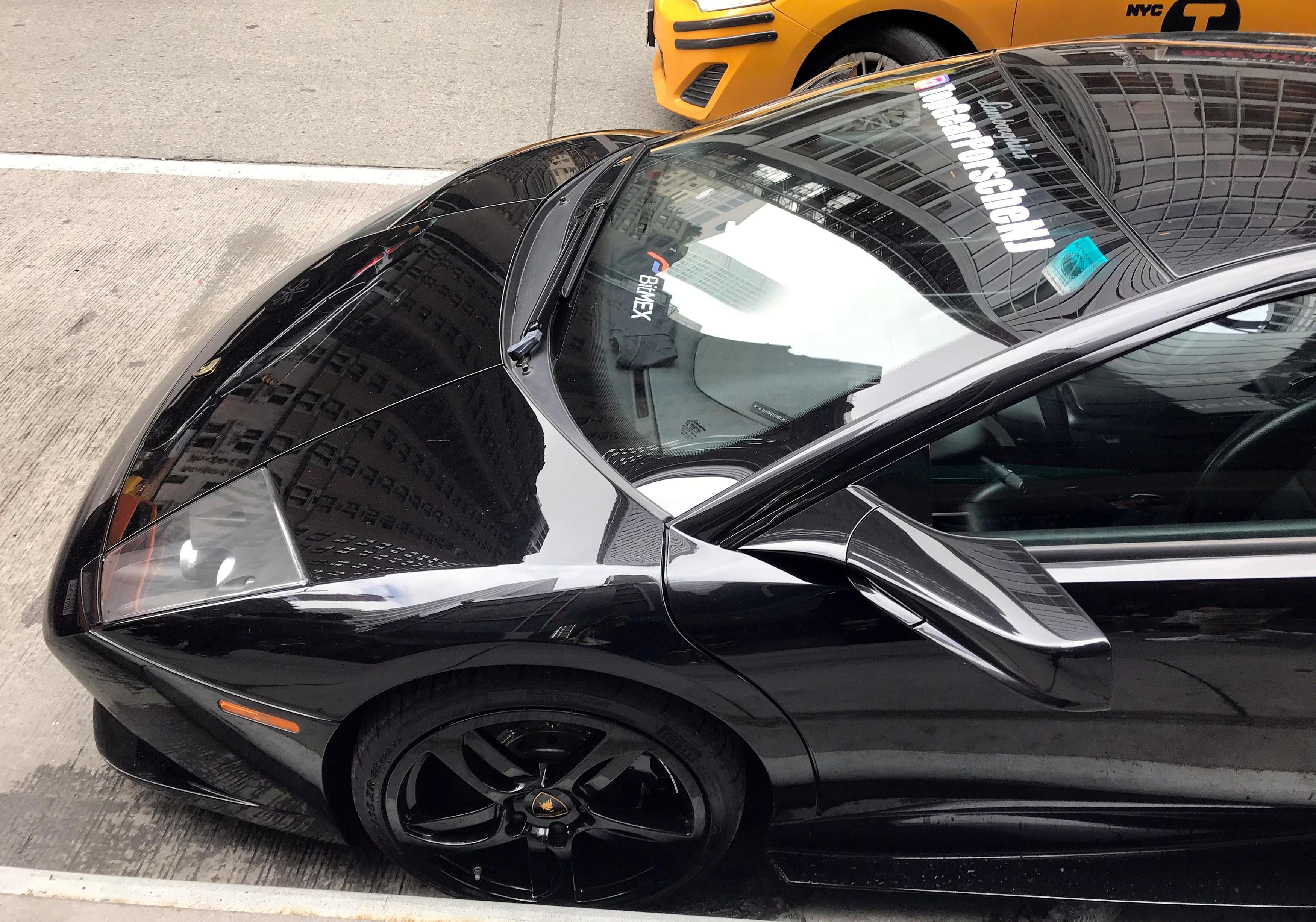 Lamborghinis greet crypto fans at Blockchain Week in New