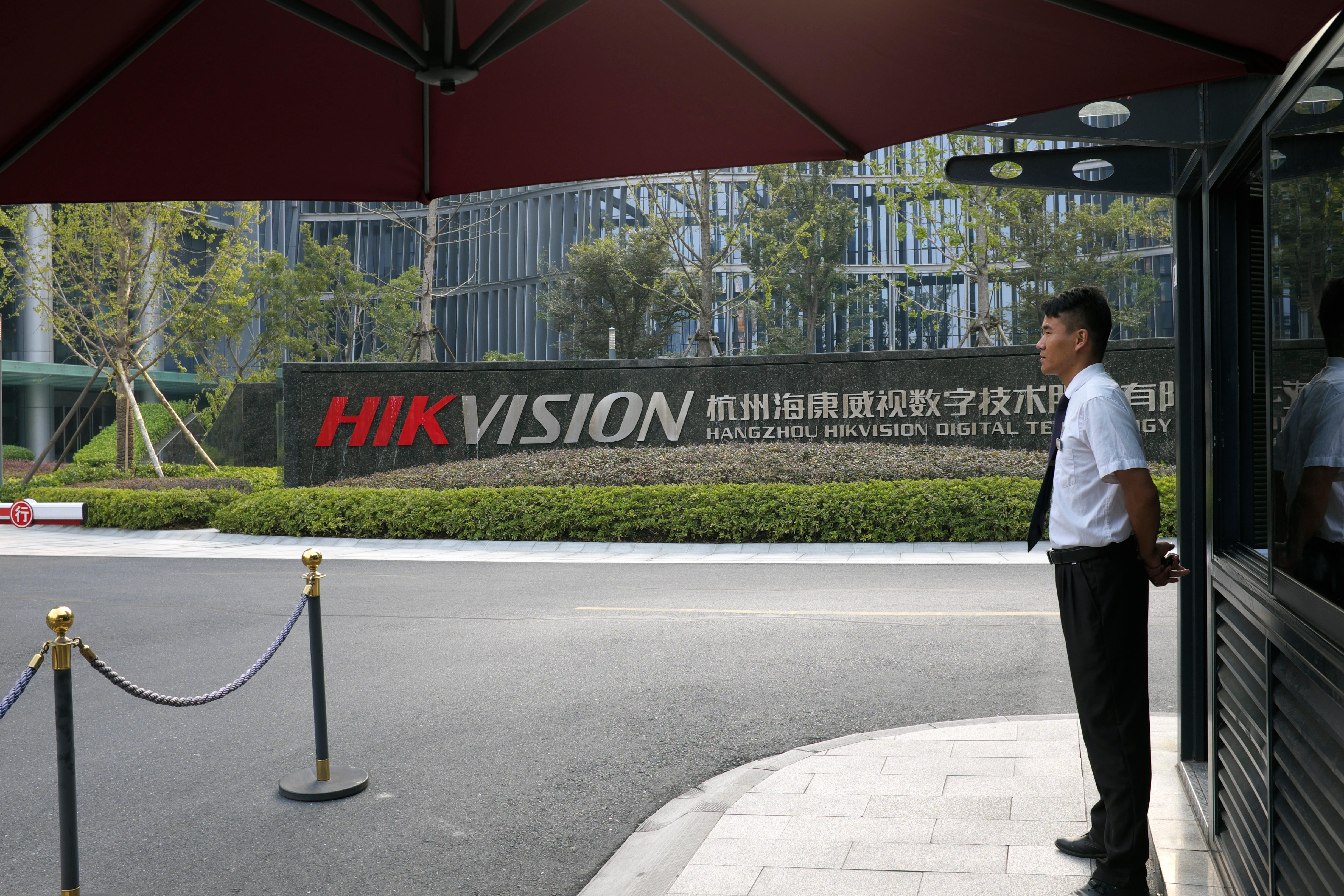 Chinese surveillance camera makers Hikvision, Dahua fall on security