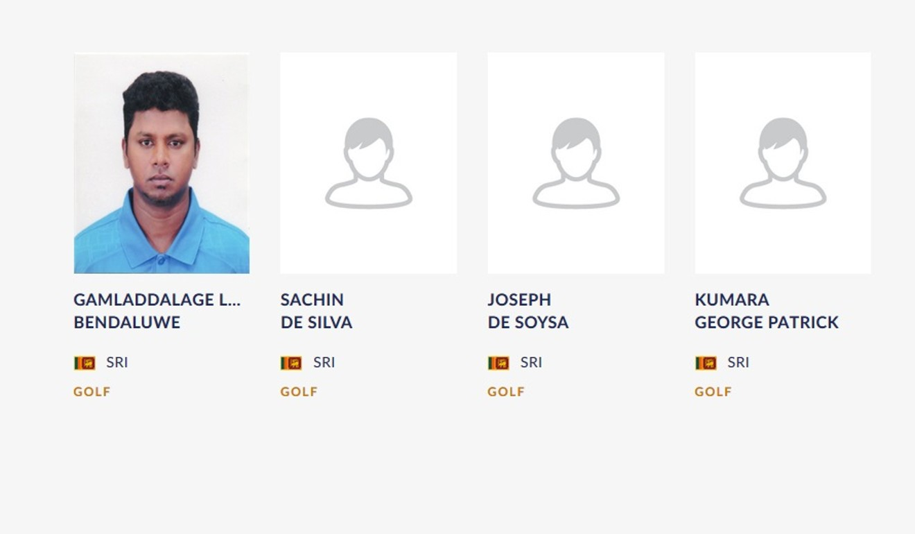Sri Lankas Line Up On The Official Website After They Made Hasty Changes Photo Inasgoc
