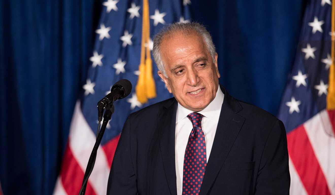 US special envoy for peace in Afghanistan Zalmay Khalilzad