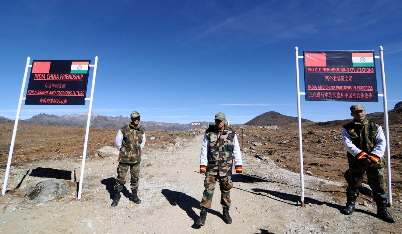 Indian Army personnel at Bumla pass on the India-China border in Arunachal Pradesh. Photo: AFP