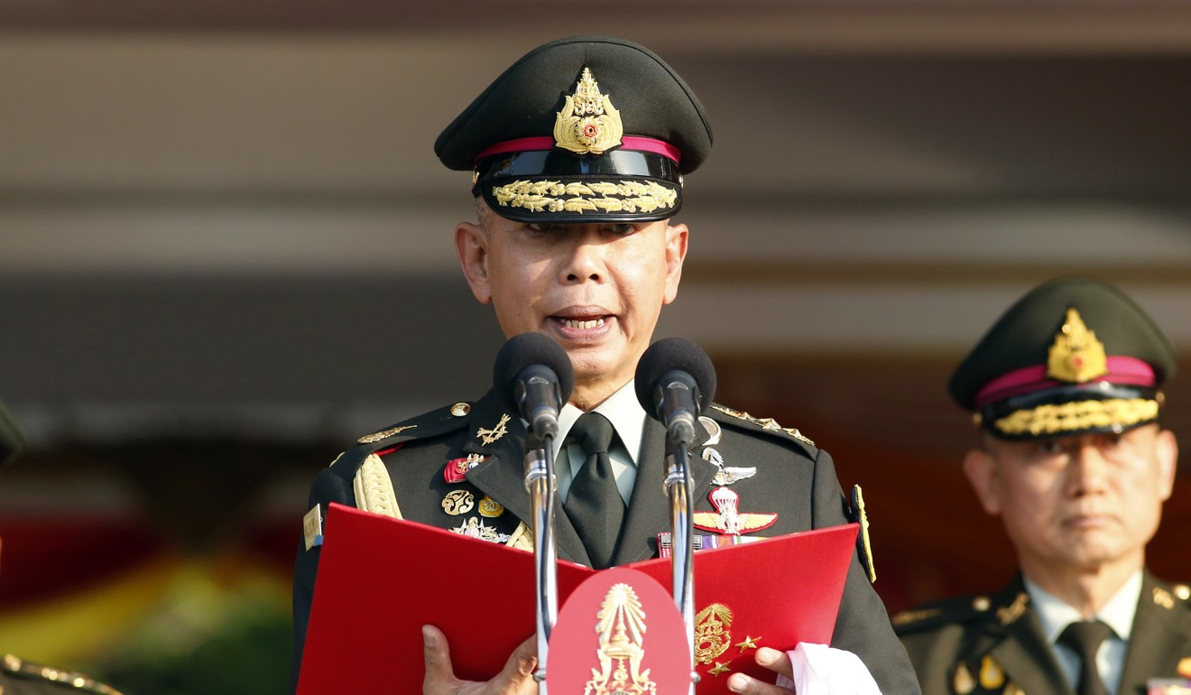 Thai army chief Apirat Kongsompong. Photo: AP