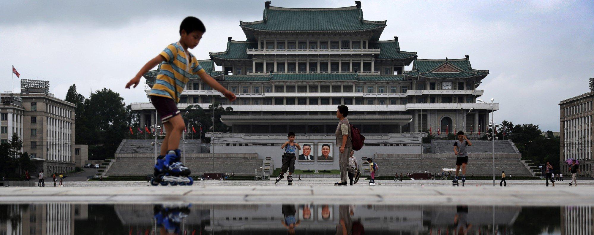 Kim Il-sung Square, Pyongyang. Picture: AP
