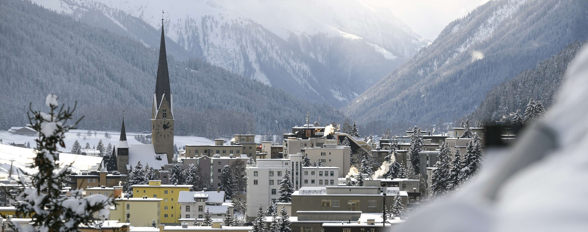 The ski resort of Davos, which hosts the World Economic Forum. Photo: AFP