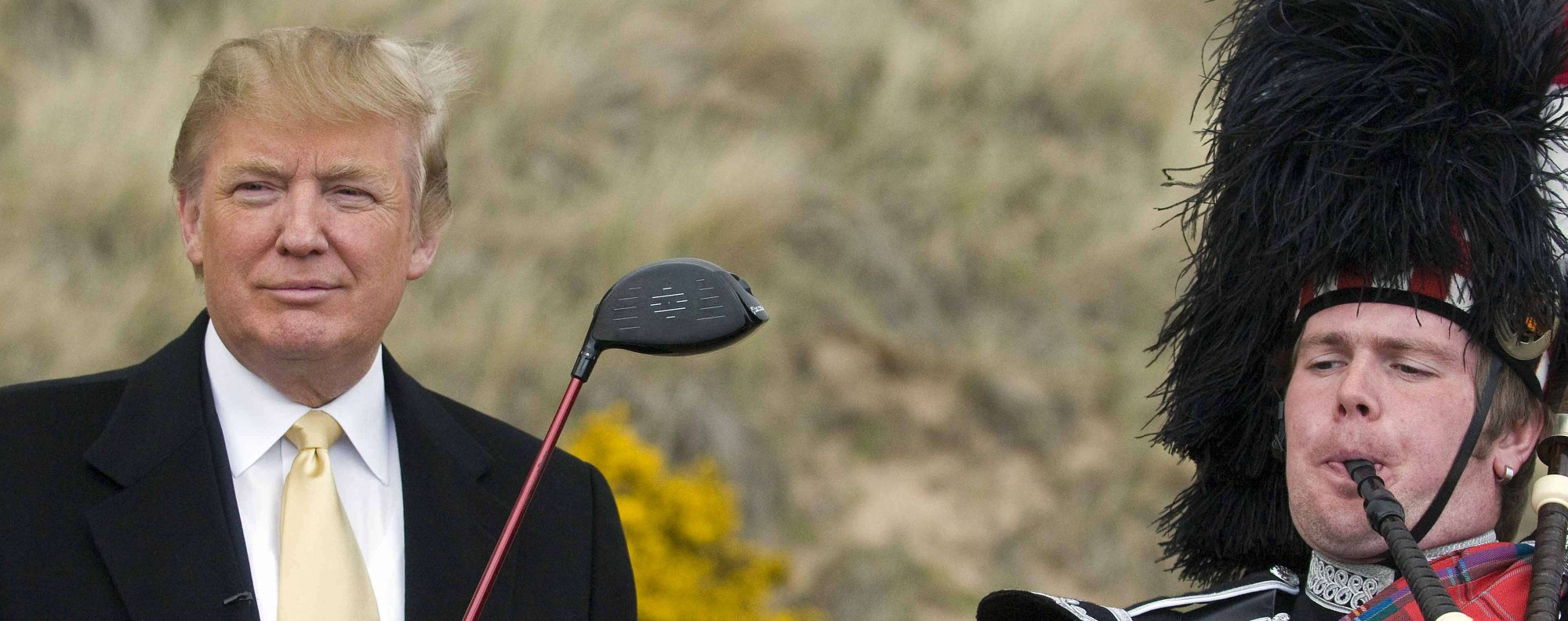 Donald Trump at his golf course on the Menie Estate. Photo: AFP