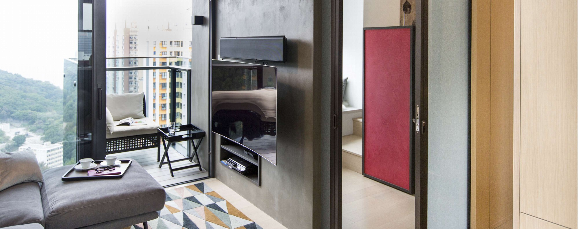 A small smart hong kong apartment packed with personality for Small apartment interior design hong kong