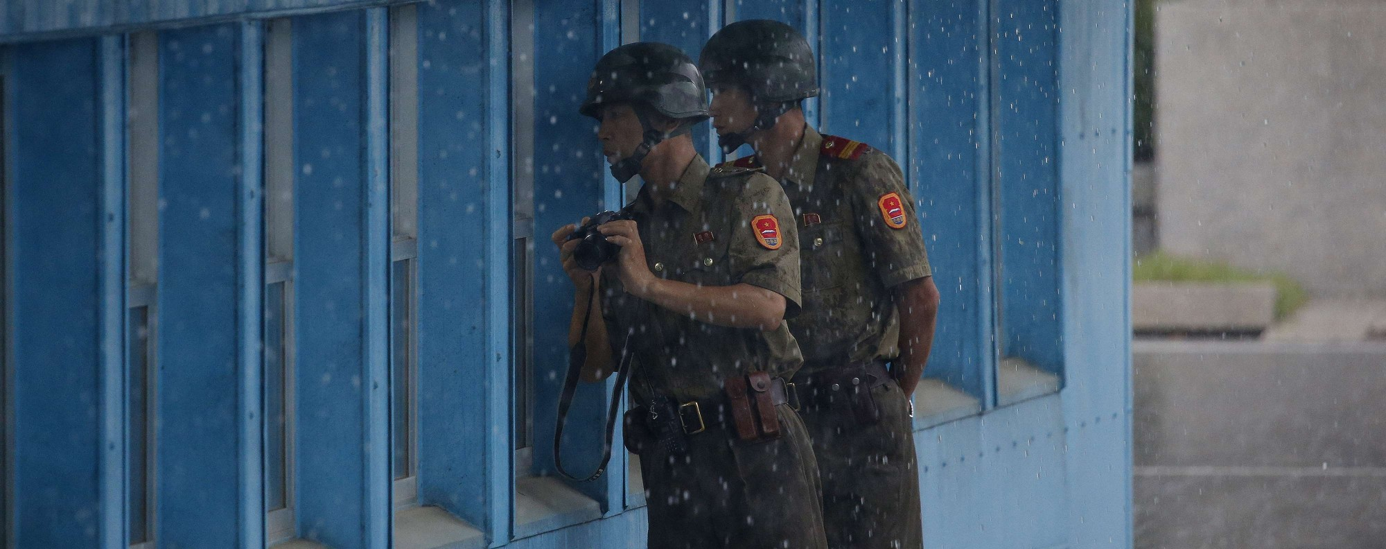 North Korean soldiers at the Demilitarized Zone. Photo: AFP
