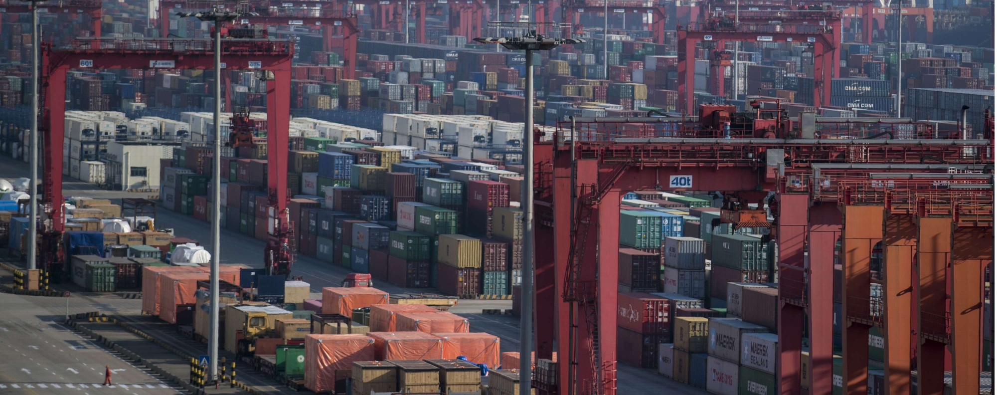 The Yangshan Deep Water Port, part of the Shanghai Pilot Free Trade Zone. Photo: AFP