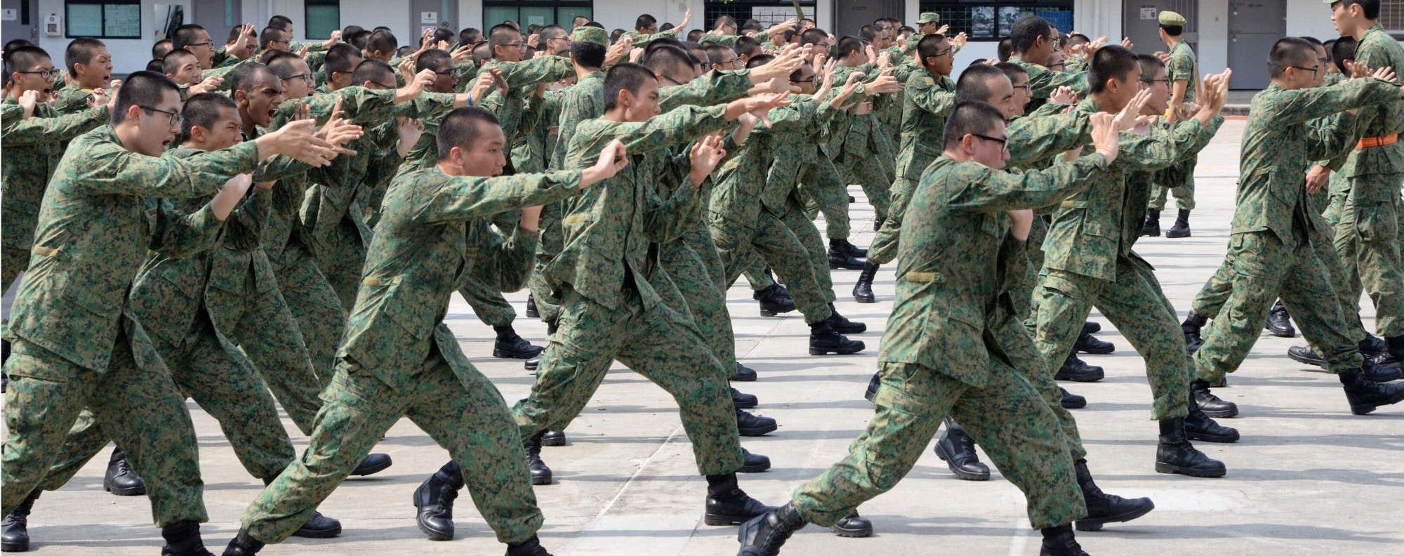 Singaporean national service recruits. Photo: AFP