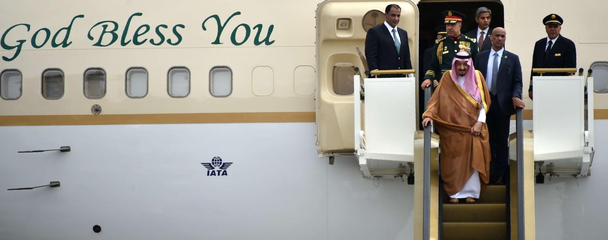 Saudi King Salman arrives in Jakarta. Photo: AFP