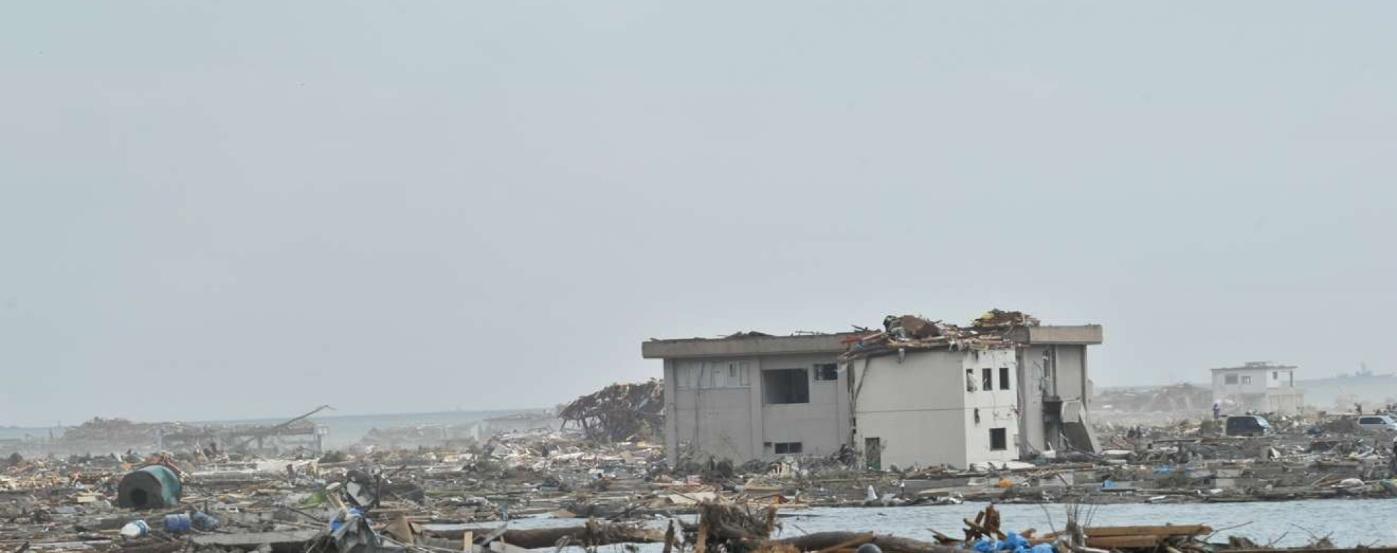 The ruins of the town of Rikuzentakata left behind by the March 19, 2011 disaster. Photo: AFP