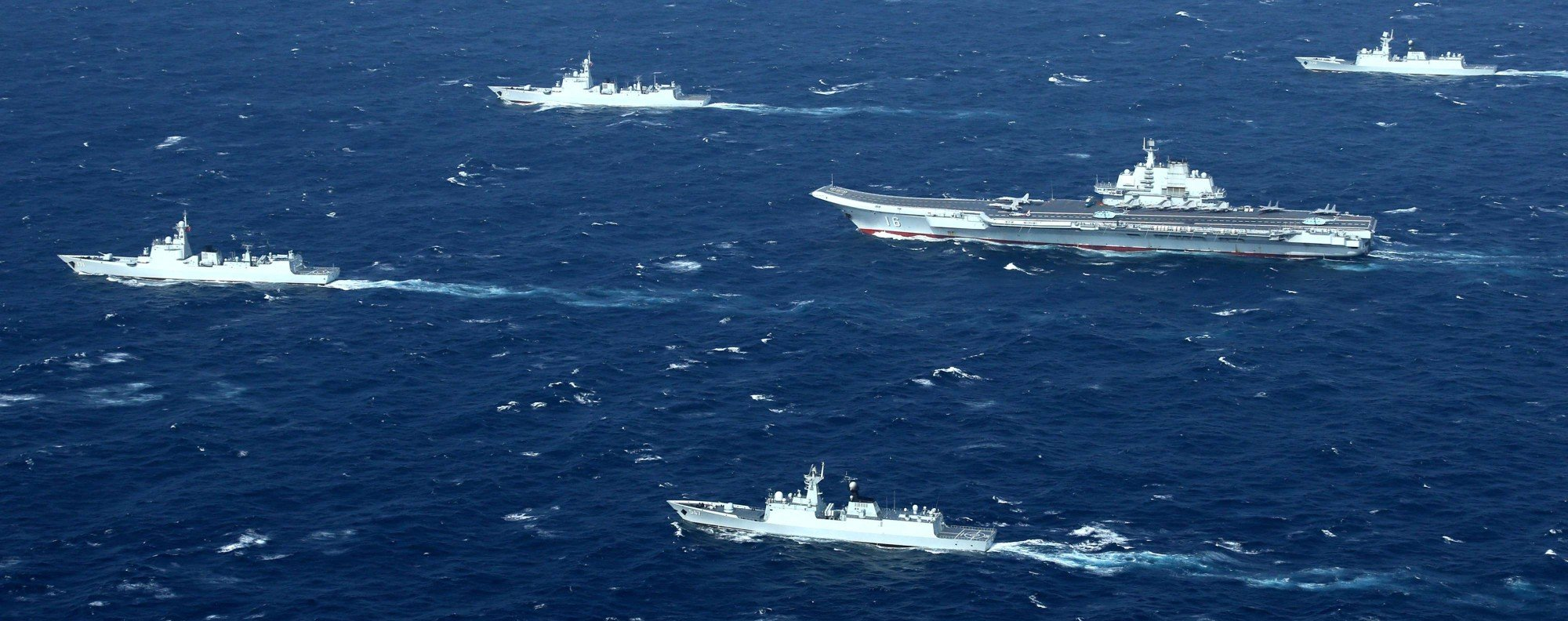 China's aircraft carrier, the Liaoning, in the South China Sea. Photo: Reuters