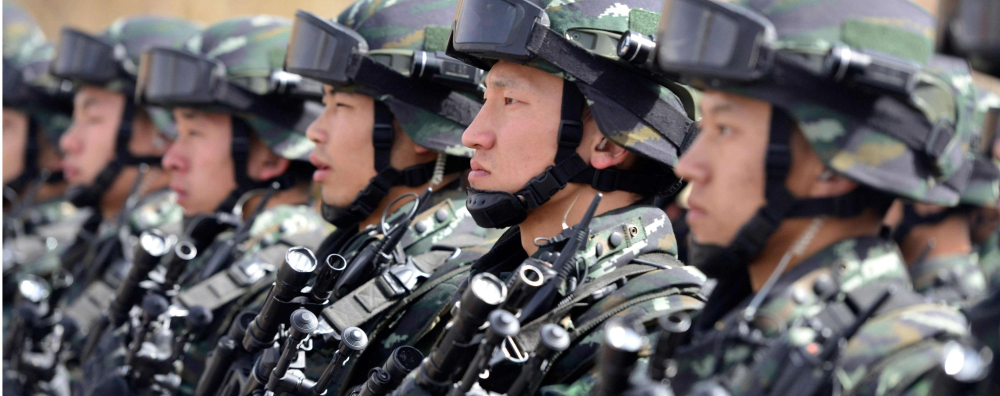 Military police in Xinjiang.Photo: AFP