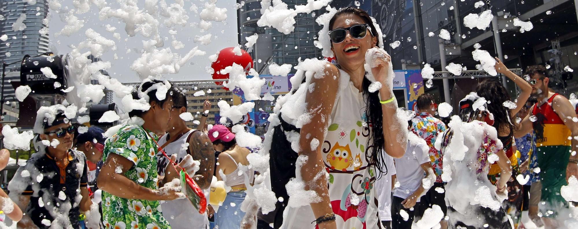 Bangkok's Songkran celebration in 2016. Photo: EPA