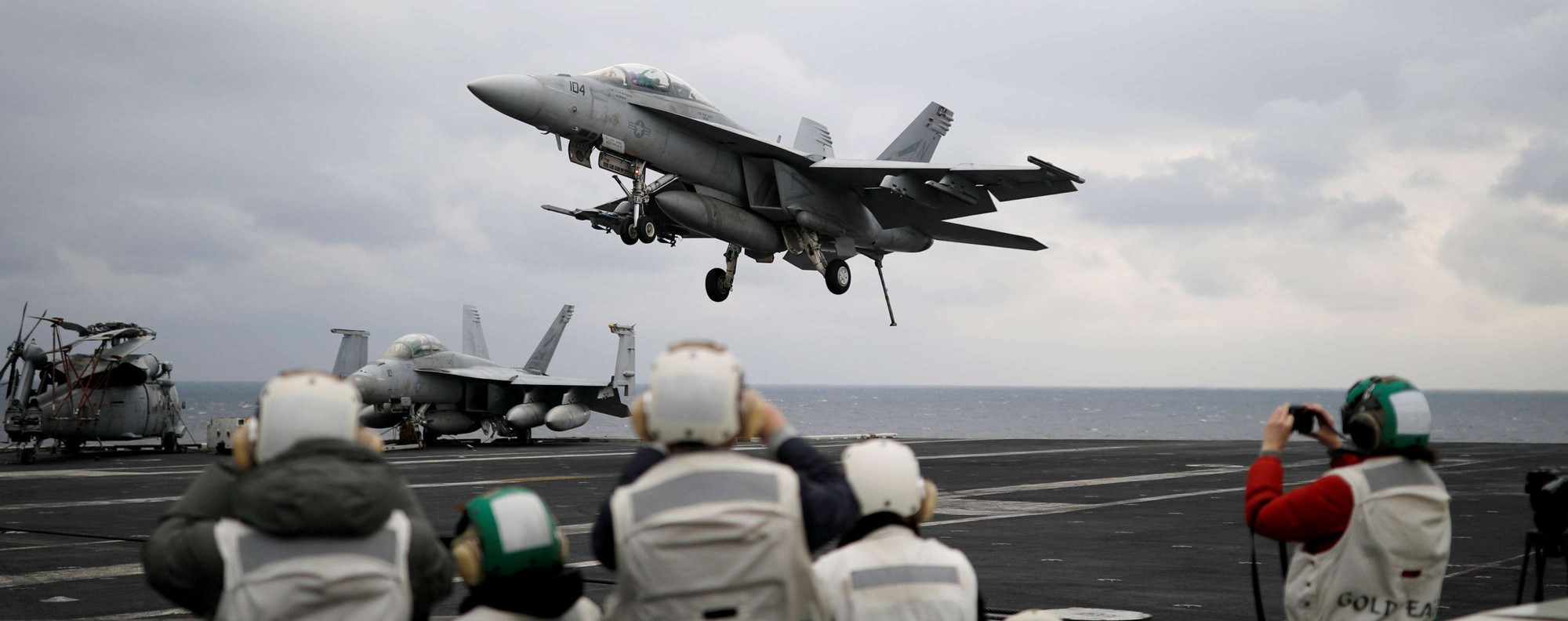 A UIS. F18 fighter jet. Photo: Reuters
