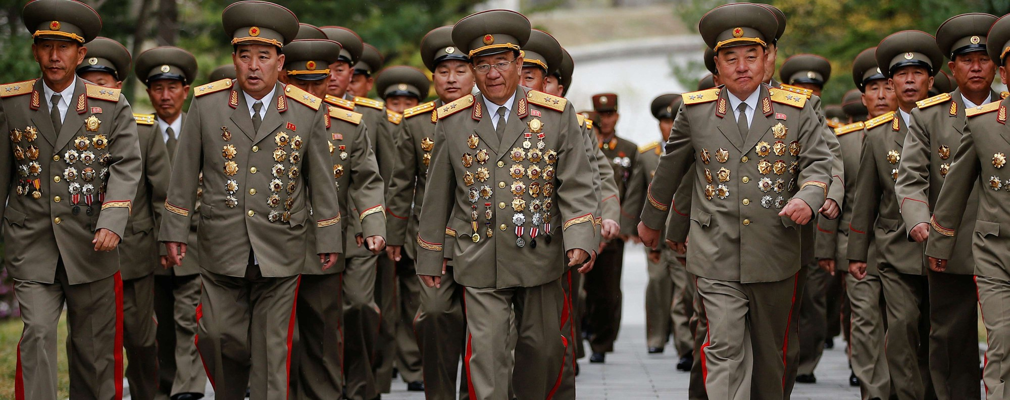 North Korean military officers. Photo: Reuters