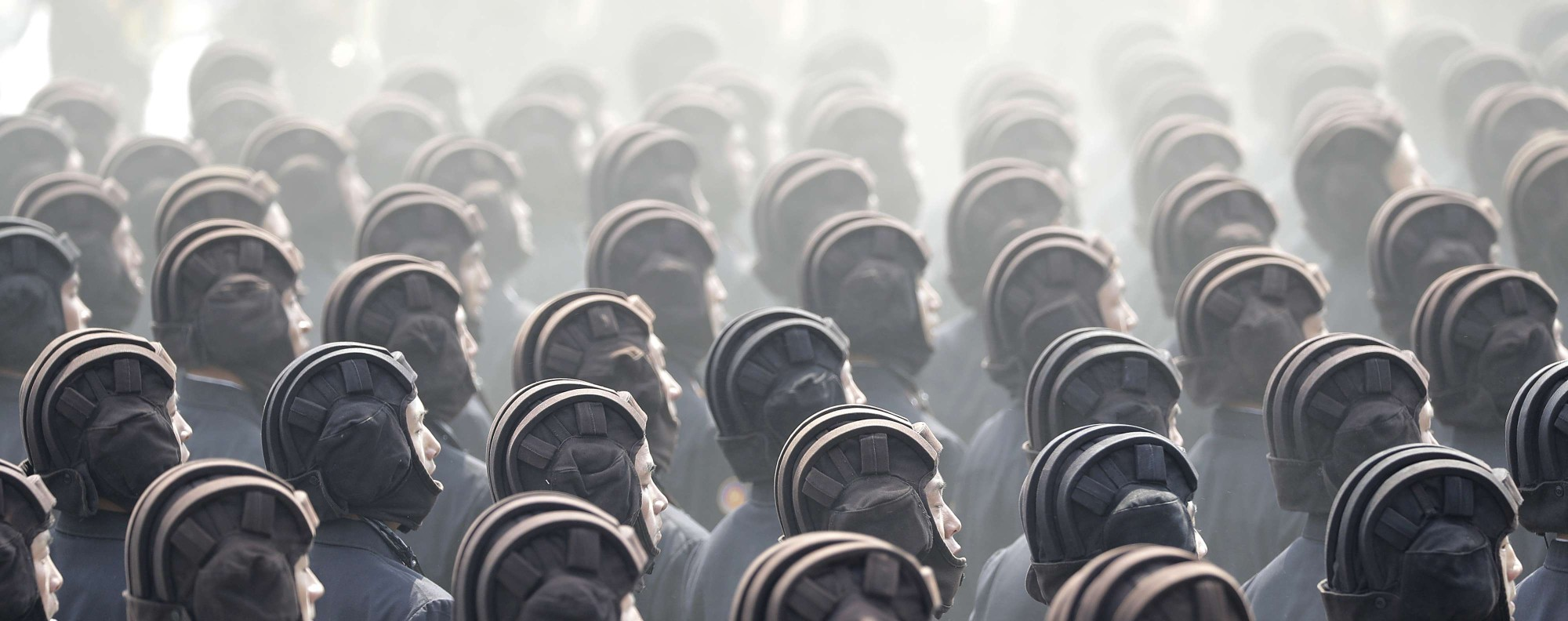 Soldiers march during a military parade in Pyongyang, North Korea. Photo: AP