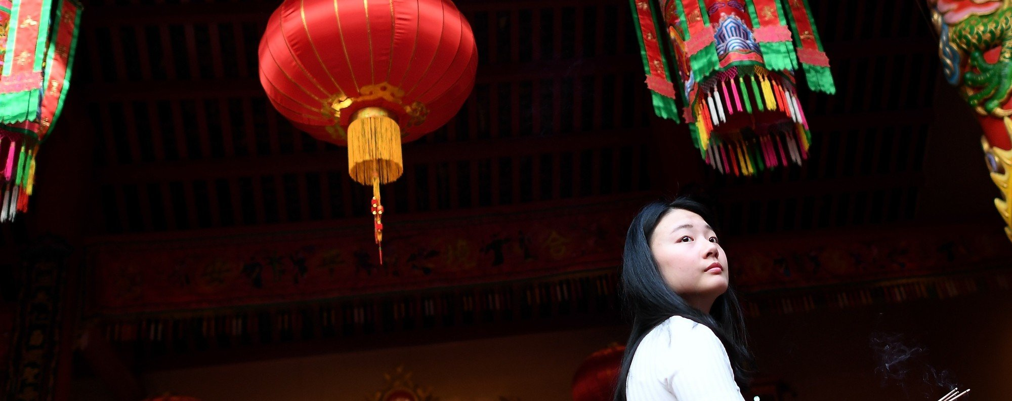 A woman in Kuala Lumpur's Chinatown. Photo: AFP