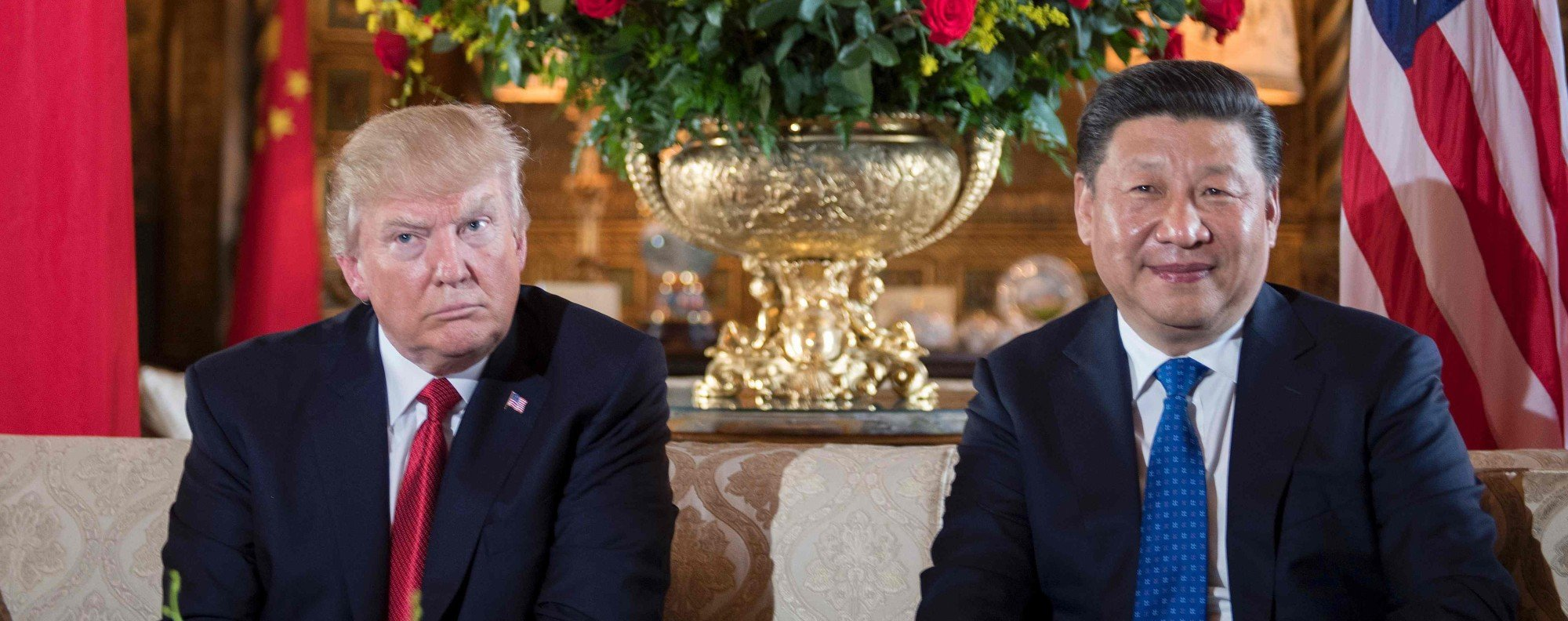 Donald Trump and Xi Jinping in Mar-a-Lago. Photo: AFP