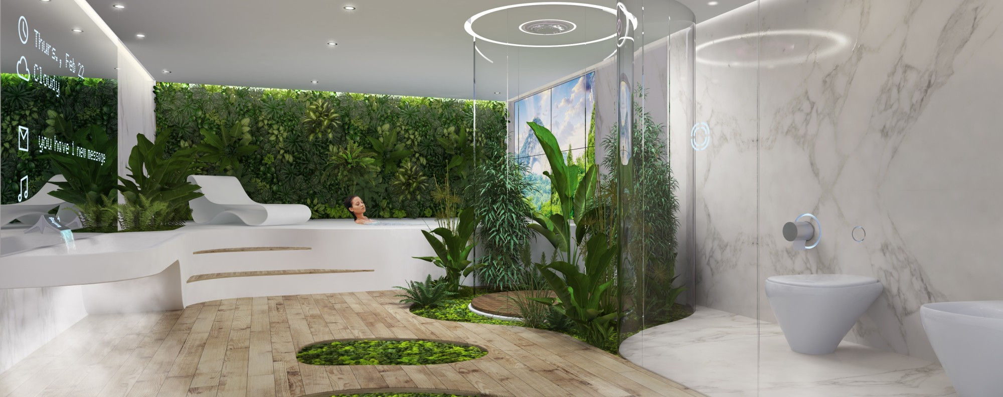 DesignLiberou0027s Bathroom Is A Marriage Of Technological Innovation And  Natural Power.