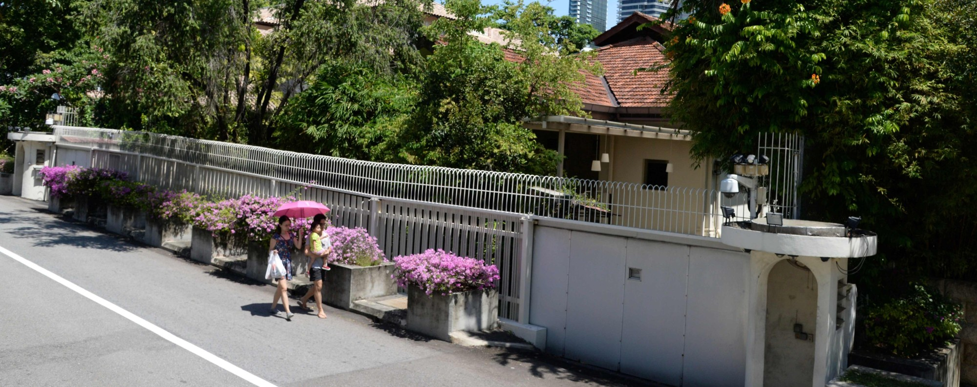 Lee Kuan Yew's residence at 38 Oxley Road in Singapore. Photo: AFP