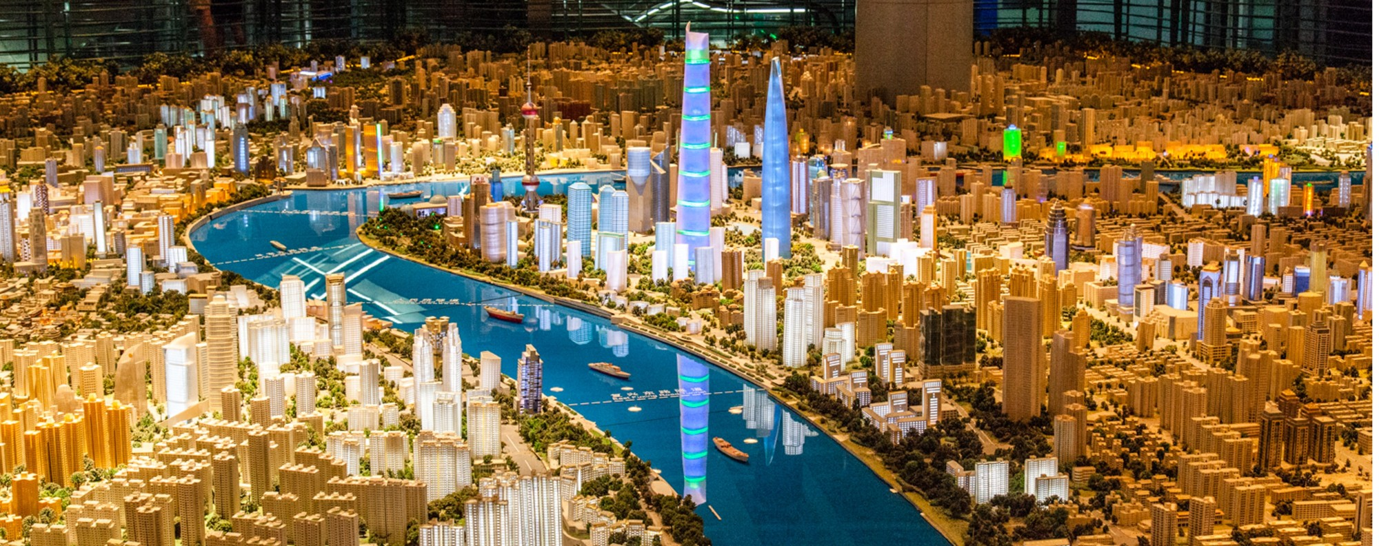 A sprawling model of the city at the Shanghai Urban Planning Exhibition Centre.