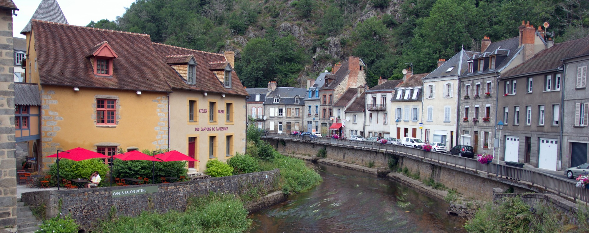 The Cartoon Museum on the bank of the River Creuse. Picture: Keith Mundy