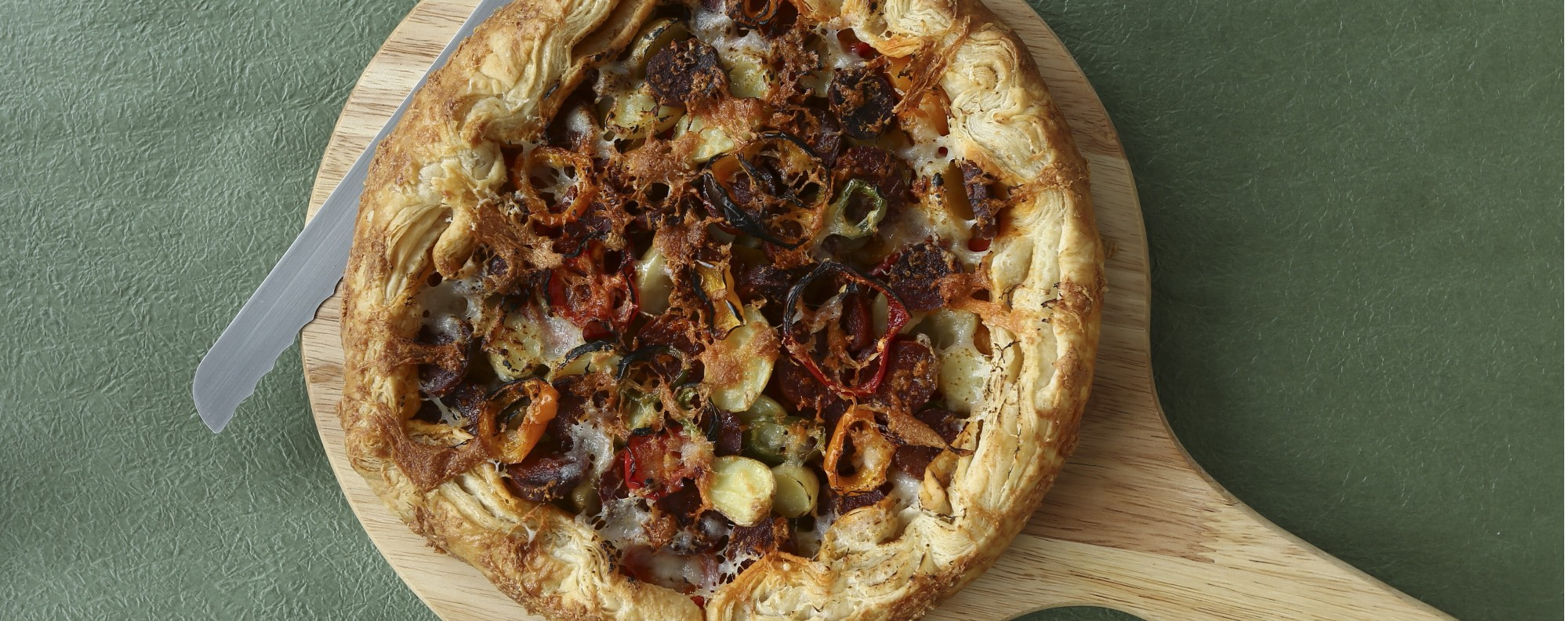 Savoury crostata by Susan Jung. Picture: Jonathan Wong