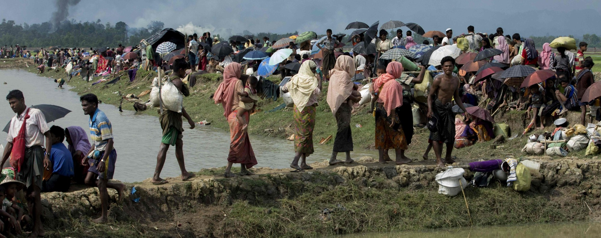 Displaced Rohingya Muslims. Photo: AFP