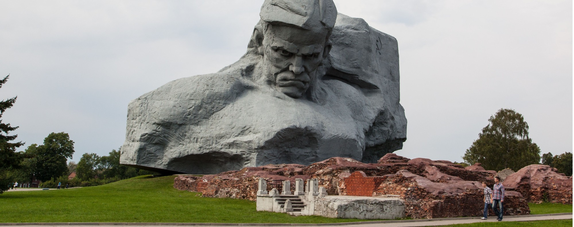 The Courage monument at Brest Fortress in Belarus. Picture: Alamy