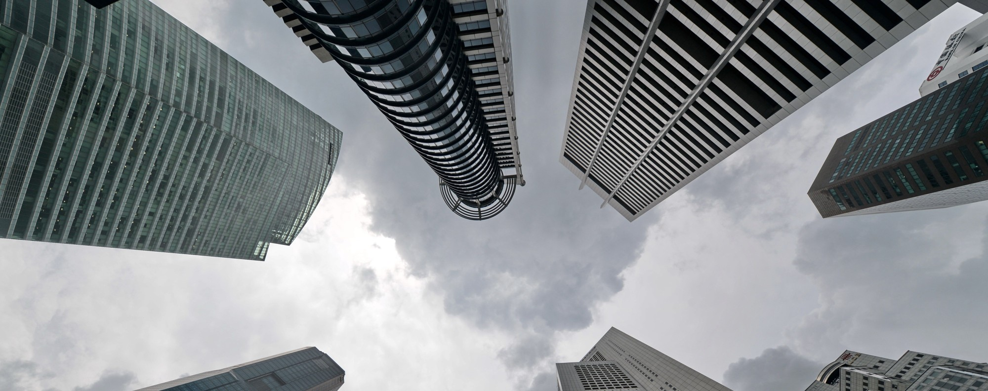 Clouds gather in Singapore. Photo: AFP