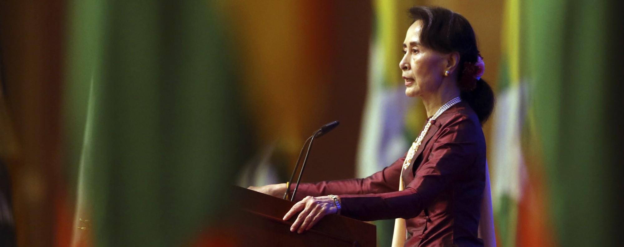 Myanmar's State Counsellor Aung San Suu Kyi. Photo: AFP