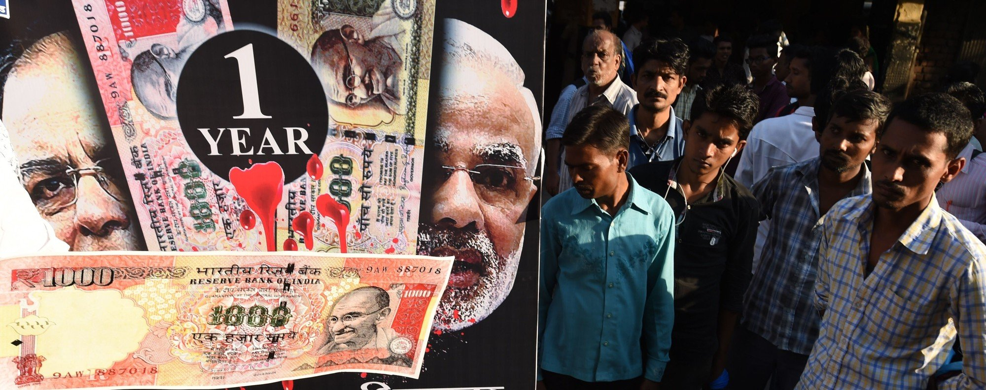 It's been one year since Modi's note ban. Photo: AFP