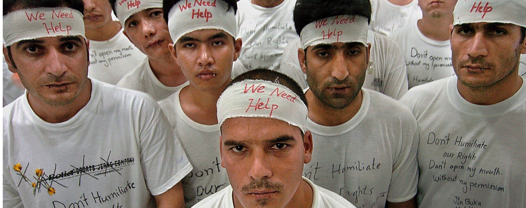 Afghan refugees in Indonesia on hunger strike. Photo: AFP
