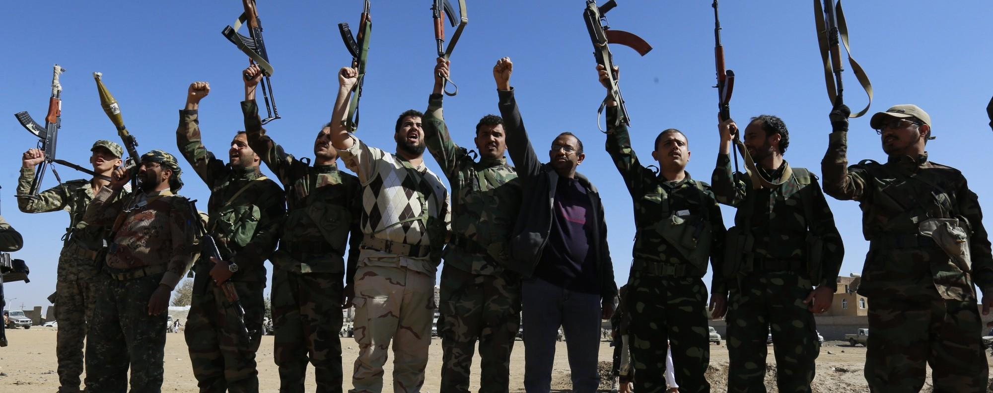 Houthi fighters in Sana'a, Yemen. Photo: EPA