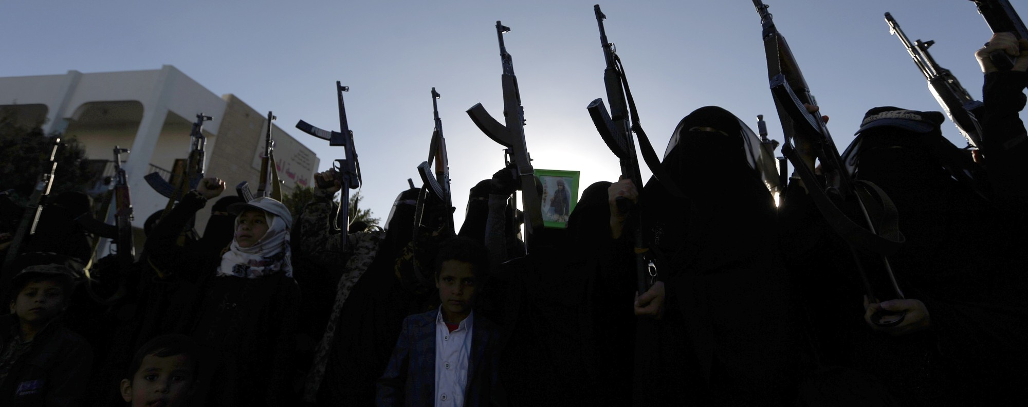 Women loyal to the Houthi rebels in Yemen. Photo: AFP