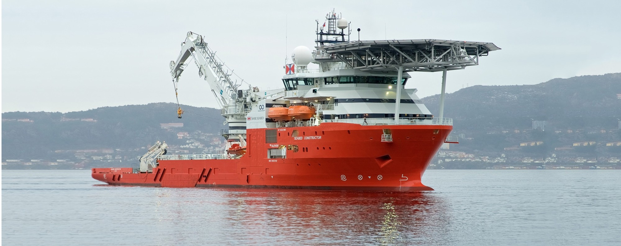 The Seabed Constructor is on the hunt for MH370. Picture: Swire
