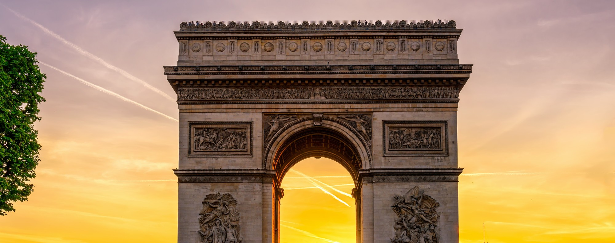 The Arc de Triomphe is one of Paris' many iconic monuments.