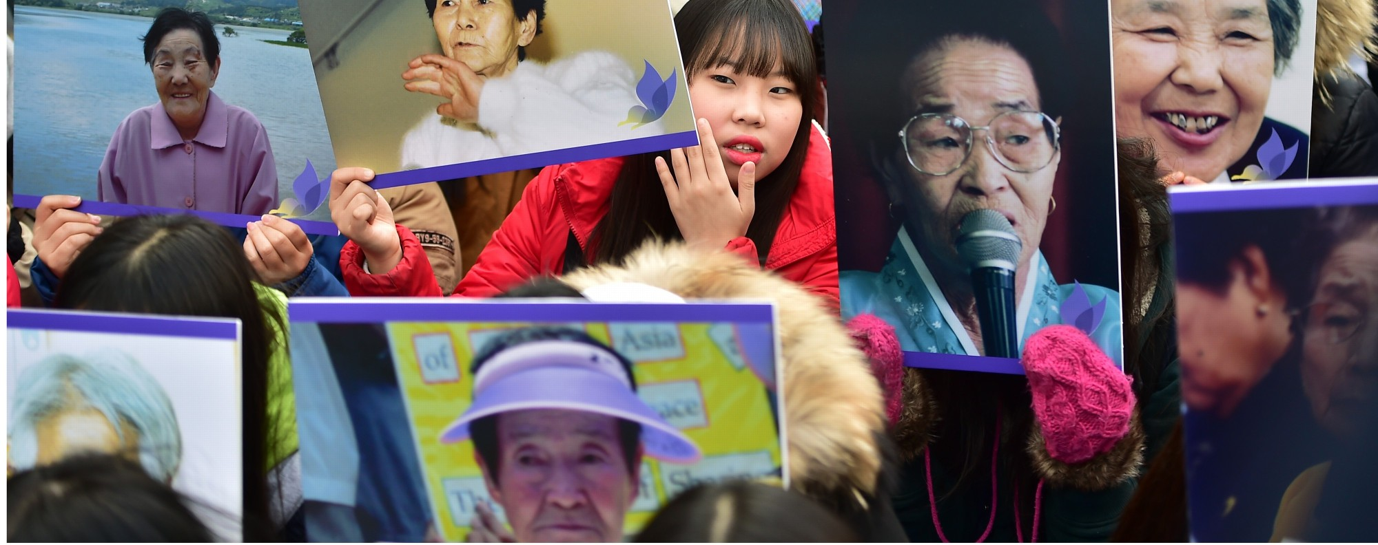 Portraits of former 'comfort women'. Photo: AFP