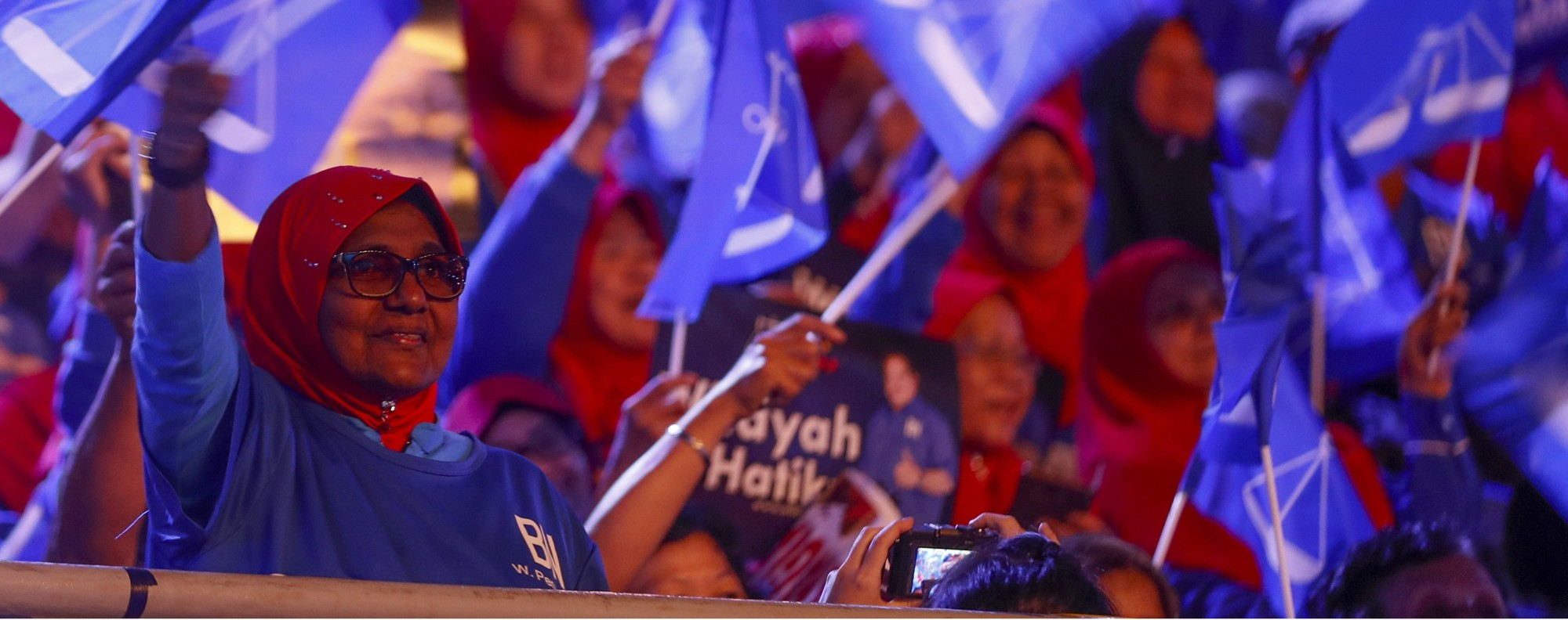 Supporters of Malaysia's ruling coalition. Photo: AP